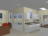 Kitchen rendering in Chief Architect